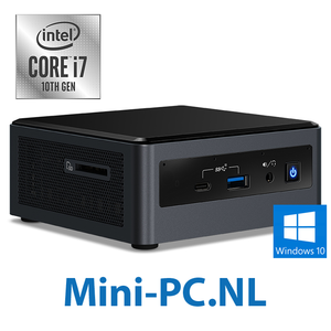 Intel® NUC + Core i7-10710U / 8GB / 500GB SSD / Windows 10 (5,1cm - hoog)
