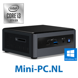 Intel® NUC + Core i3-10110U / 8GB / 500GB SSD / Windows 10 (5,1cm - hoog)